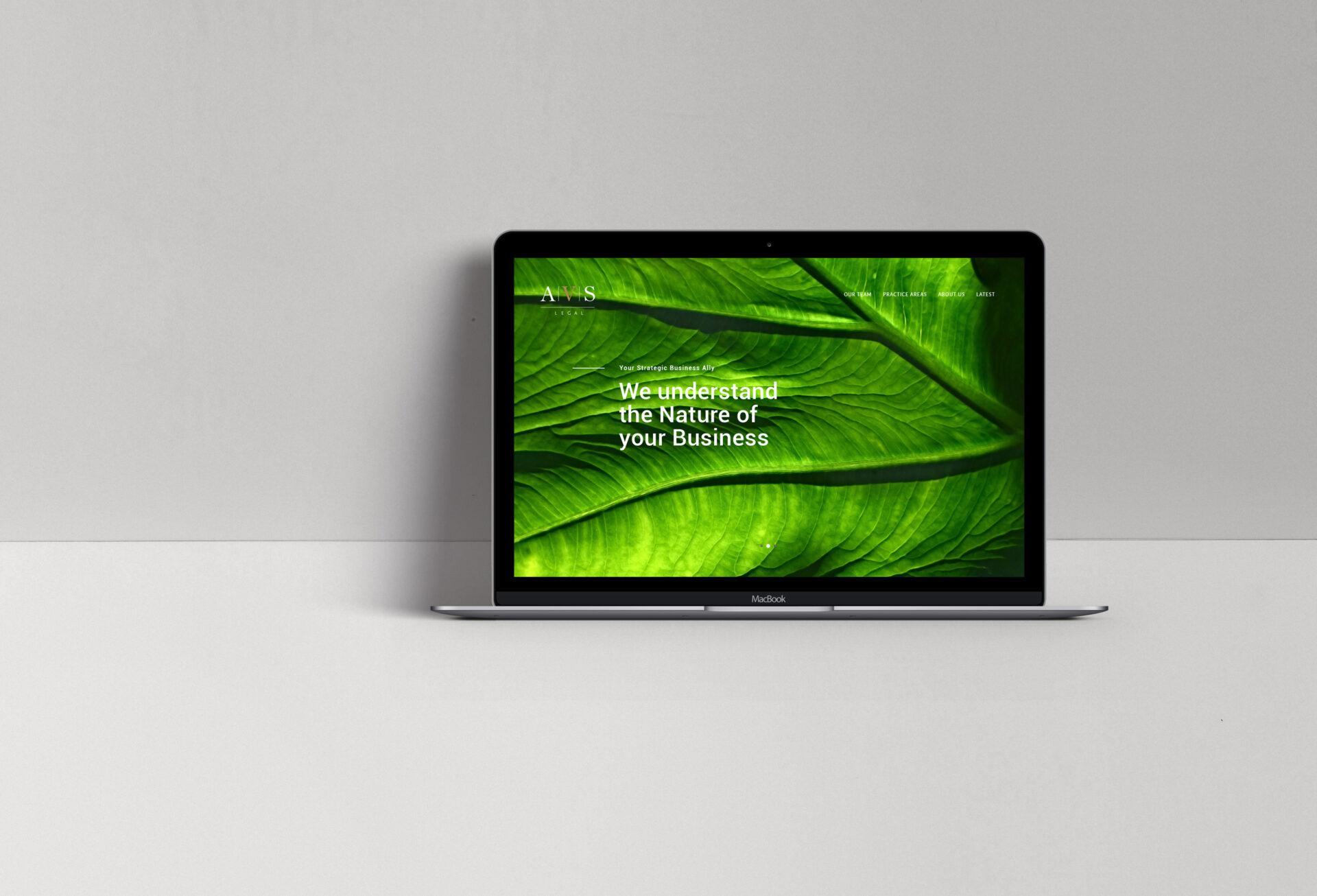 AVS Legal website Landing Page
